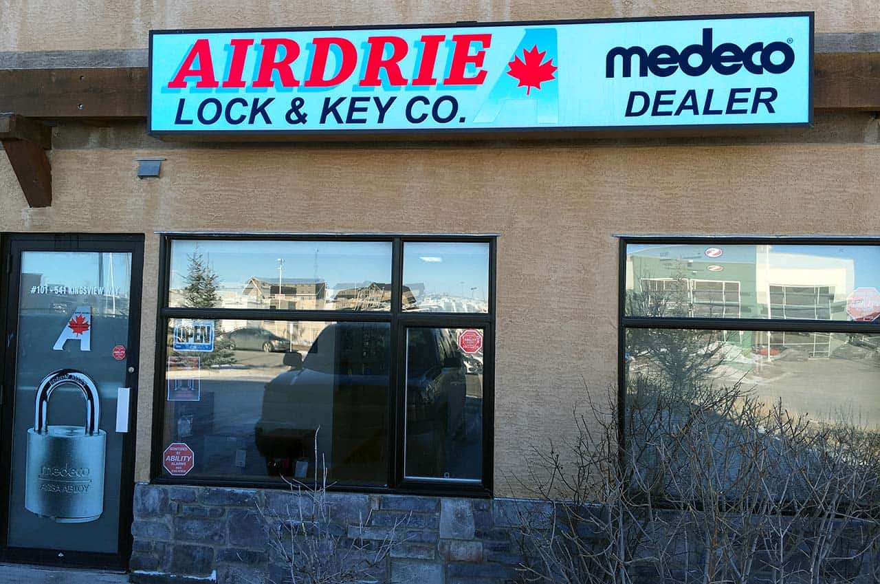 Airdrie Lock and Key store front